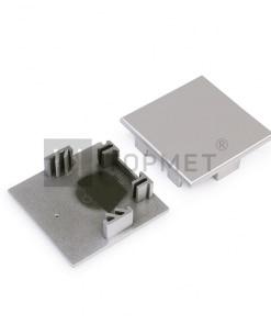 LED juostos profilio PHIL53 paviršinis užbaigimo elementas (pilkas)