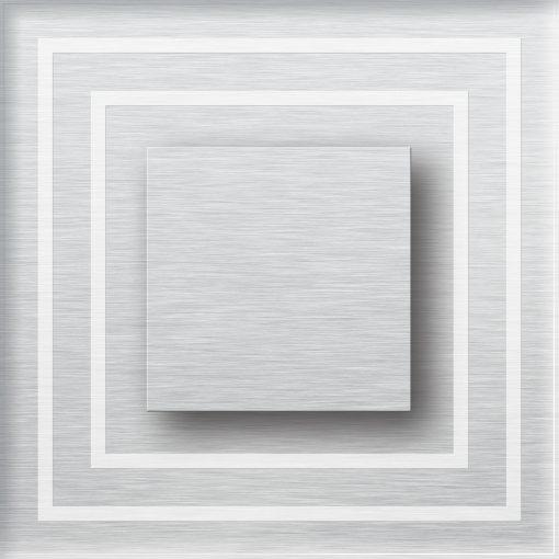 0.6W įmontuojamas LED švietuvas CRISTAL 12V su baltu apvadu 6000K šaltai balta šviesos spalva