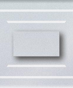 0.6W įleidžiamas LED švietuvas CRISTAL 12V su vertikaliomis juostelėmis 6000K šaltai balta šviesos spalva