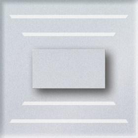 0.6W įleidžiamas LED švietuvas CRISTAL su vertikaliomis juostelėmis šviečiantis šaltai balta šviesos spalva