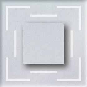 0.6W atsparus drėgmei įleidžiamas LED švietuvas CRISTAL su juostelėmis kampuose 6000K šaltai balta šviesos spalva