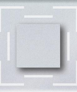 1W atsparus drėgmei įleidžiamas LED švietuvas CRISTAL 220V su juostelėmis kampuose 6000K šaltai balta šviesos spalva