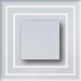 0.6W įleidžiamas LED švietuvas CRISTAL 12V su kvadratiniu iškilimu šviečiantis šaltai balta šviesos spalva