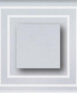 1W atsparus drėgmei įleidžiamas LED švietuvas CRISTAL 12V su kvadratiniu iškilimu šviečiantis šaltai balta šviesos spalva