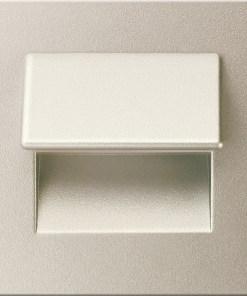 0.3W drėgmei atsparus nikelio spalvos įmontuojamas LED švietuvas LIVE 6000K šaltai balta šviesos spalva