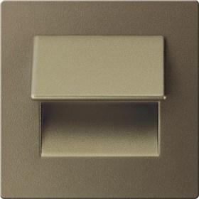 0.3W drėgmei atsparus sendinto aukso spalvos įmontuojamas LED švietuvas LIVE 6000K šaltai balta šviesos spalva