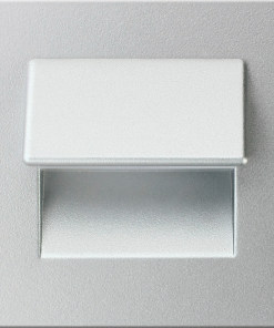 0.3W drėgmei atsparus aliuminio spalvos įmontuojamas LED švietuvas LIVE 3000K šiltai balta šviesos spalva