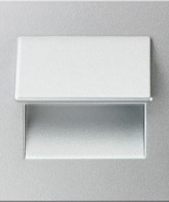 0.3W drėgmei atsparus aliuminio spalvos įmontuojamas LED švietuvas LIVE 6000K šaltai balta šviesos spalva