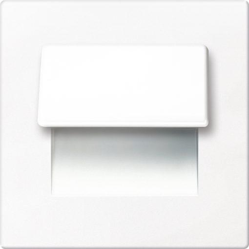 0.3W drėgmei atsparus baltas įmontuojamas LED švietuvas LIVE 3000K šiltai balta šviesos spalva