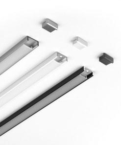 Aliuminio LED profilis KLUS MICRO, be dangtelio