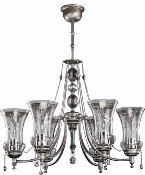 Šešių lempų lubinis šviestuvas NICO