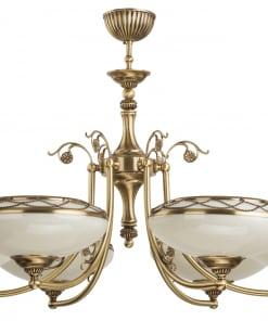 Šešių lempų lubinis šviestuvas su stikliniais gaubteliais CASAMIA