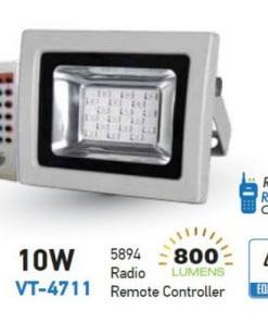 10W LED prožektorius V-TAC su radio bangomis valdomu pulteliu