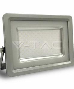 150W pilkai juodas LED prožektorius V-TAC IP65 atsparus vandeniui