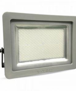 200W pilkas LED prožektorius V-TAC SLIM šaltai balta šviesos spalva