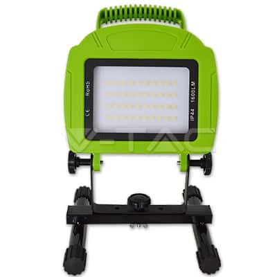 20W pakraunamas LED prožektorius V-TAC šviečiantis iki 6 val. 8800mAh