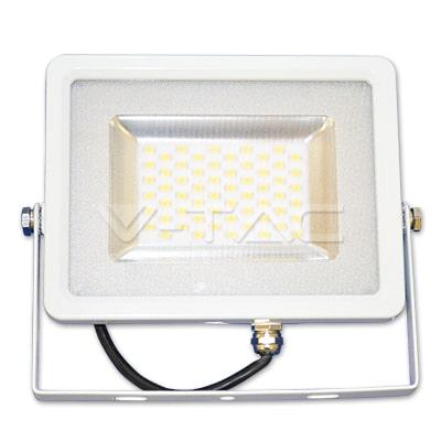 30W baltas LED prožektorius V-TAC SLIM cable