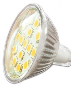 3W LED lemputė 12V GU5.3 (3000K)