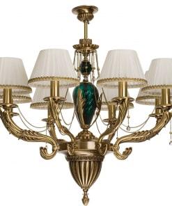Ašuonių lempų lubinis pakabinamas šviestuvas su tekstilės gaubeliais KATANIA