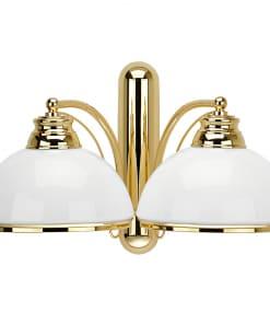 Dviejų lempų sieninis šviestuvas OBD