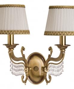 Dviejų lempų sieninis šviestuvas su Swarovski kirstalais FONTANA