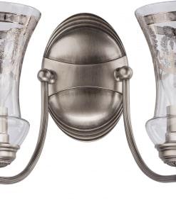 Dviejų lempų sieninis šviestuvas su stiklo gaubteliais NICO