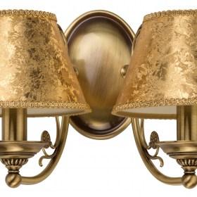 Dviejų lempų sieninis šviestuvas su tekstilės gaubtu CASAMIA