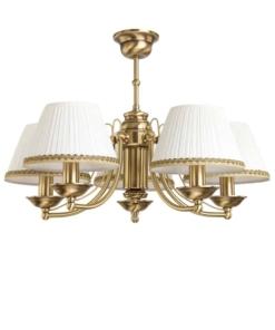 Klasikinio stiliaus šviestuvas su tekstilės gaubteliais KUTEK N