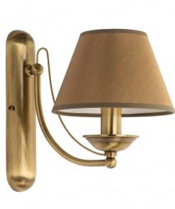Klasikinio stiliaus sieninis šviestuvas su tekstilės gaubteliu N