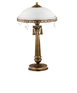 Klasikinio stiliaus stalo šviestuvas su stiklo gaubtu ROMA