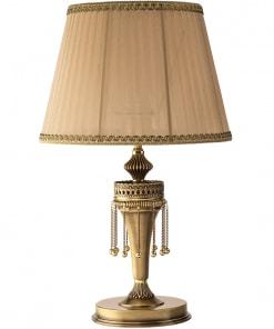 Klasikinio stiliaus stalo šviestuvas su tekstilės gaubteliu DORATO
