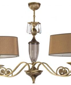 Lubinias pakabinamas šviestuvas su dvejais dideliais gaubtais MONZA