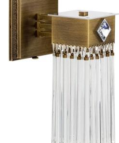 Sendinto žalvario spalvos sieninis šviestuvas CARINO