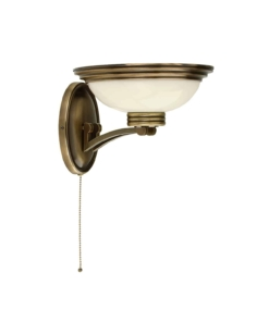 Sieninis šviestuvas su stiklo gaubteliu FORUM