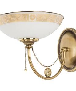 Sieninis šviestuvas su stiklo gaubtu DORATO