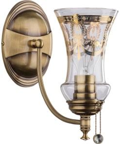 Sieninis šviestuvas su taurės formos stilo gaubtu NICO
