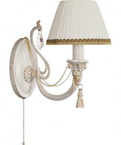 Sieninis šviestuvas su tekstilės gaubteliu ROMA