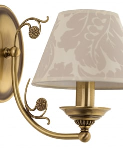 Sieninis šviestuvas su tekstilės gaubtu CASAMIA