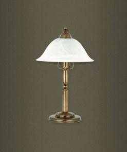 Stalo šviestuvas su baltos spalvos stiklo gaubtu CAPRI