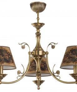 Trijų lempų lubinis šveistuvas CASAMIA su tekstilės gaubteliais