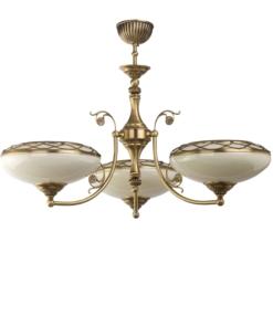 Trijų lempų lubinis šviestuvas su stikliniais gaubteliais CASAMIA
