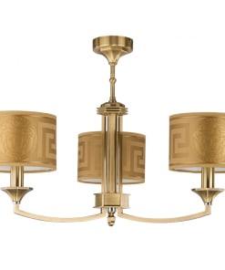 Trijų lempų lubinis šviestuvas su tekstilės gaubteliais DECOR