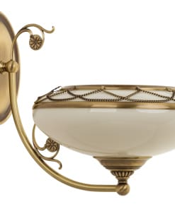 Vienos lempos sieninis šviestuvas su stikliniu gaubteliu CASAMIA