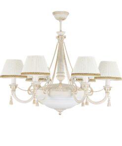 Šešių lempų klasikinis sietynas KUTEK ROMA