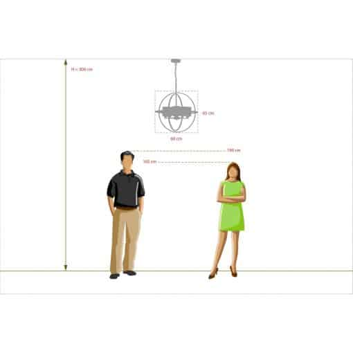 Pakabinamas šviestuvas MW-LIGHT Loft 28501040511