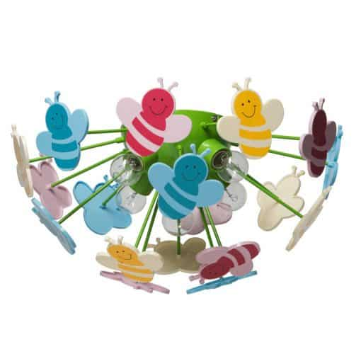 Lubinis vaikiškas šviestuvas MW-LIGHT Kinder su spalvotomis bitutėmis