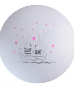 Lubinis vaikiškas šviestuvas MW-LIGHT Kinder su kiškio piešiniu