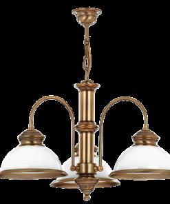 Trijų lempų lubinis šviestuvas LIDO