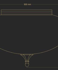 Paviršinio montavimo šviestuvas KUTEK DECOR
