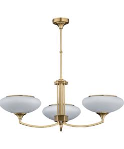 Trijų lempų lubinis šviestuvas KUTEK DECOR